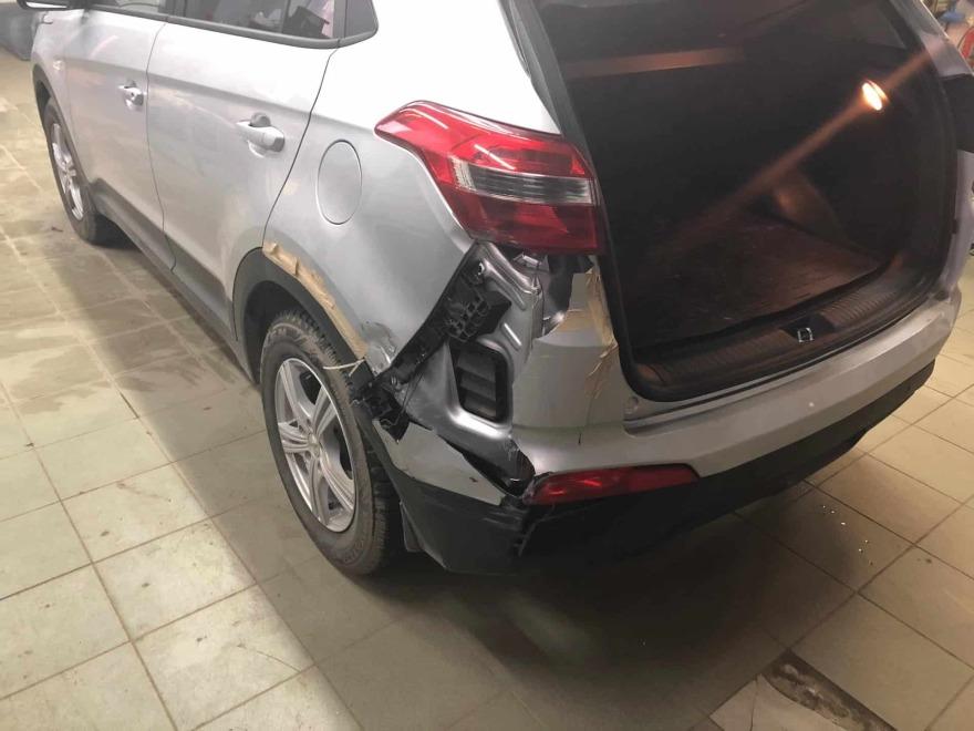 Кроссовер Hyundai Creta до кузовного ремонта фото