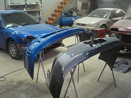 Фото ремонта бампера в автосервисе