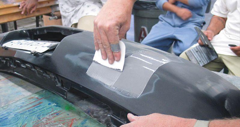 фото ремонт пластикового бампера в иваново