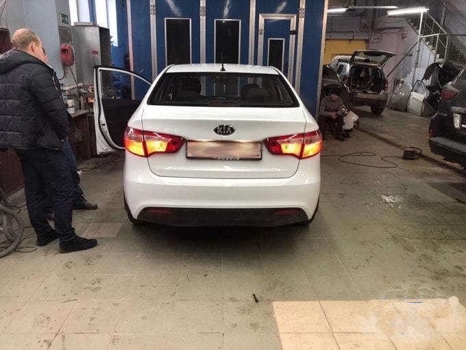 Kia после восстановления и покраски кузова