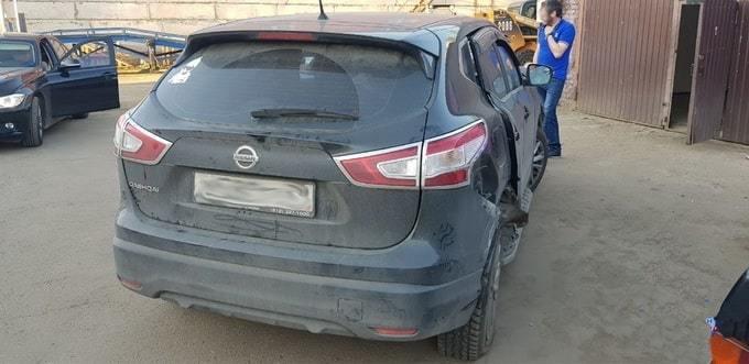 Qashqai фото вид сзади до кузовного ремонта