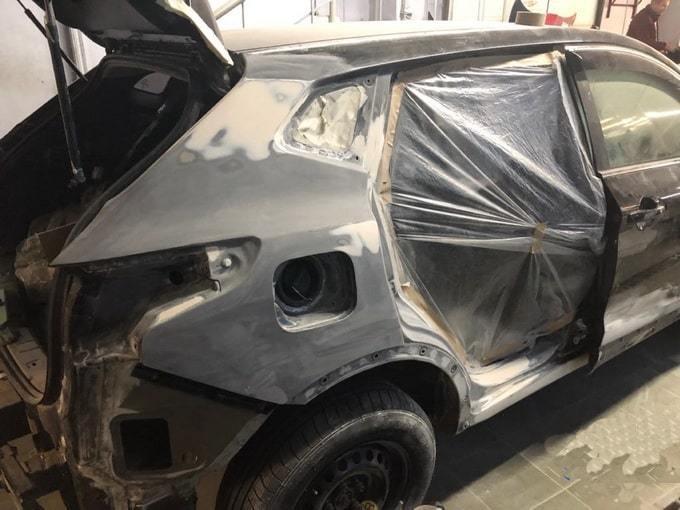 Фото процесса кузовного ремонта Nissan Qashqai АвтосервисПрофи