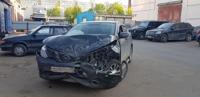 Кроссовер Nissan Qashqai до кузовного ремонта