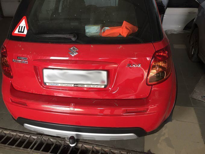 Suzuki вмятина на крышке багажника фото АвтосервисПрофи