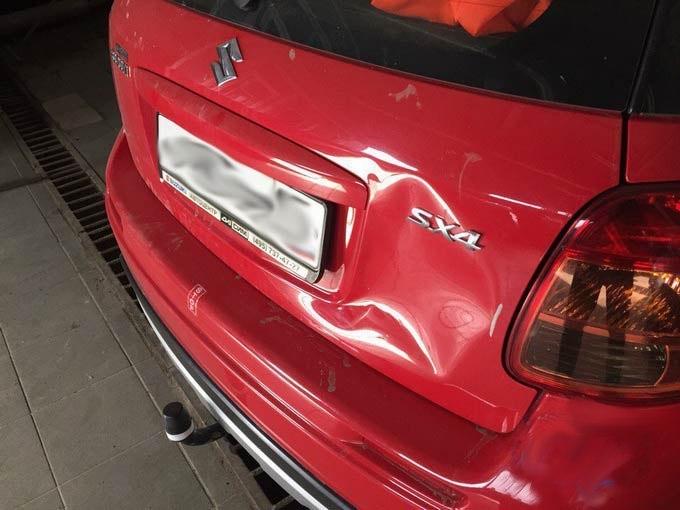 Suzuki фото вмятины до ремонта АвтосервисПрофи