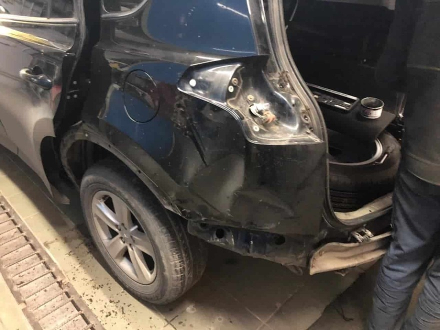 Фото повреждений Toyota до ремонта
