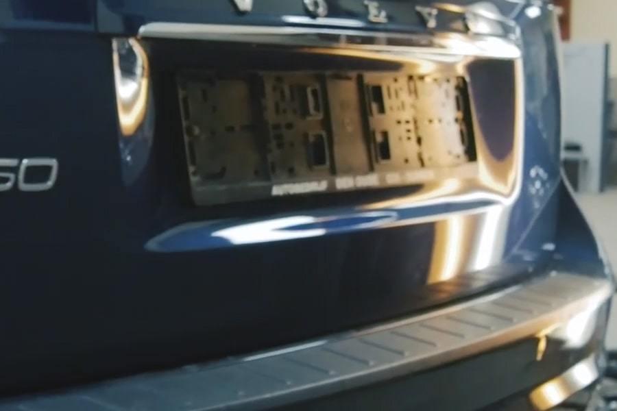 Фото крышки багажника после удления вмятины бз покраски