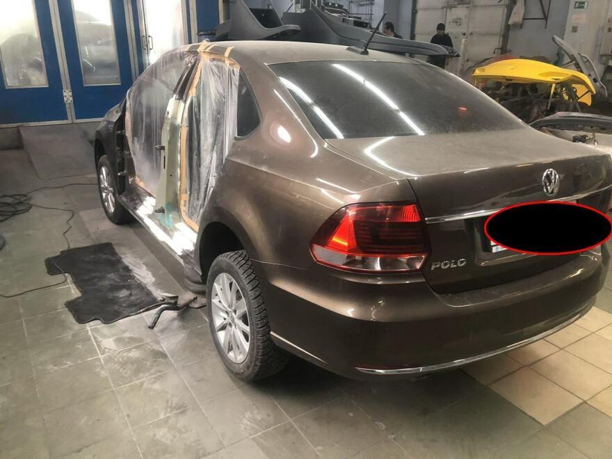 Фото в процессе восстановления стоек Volkswagen