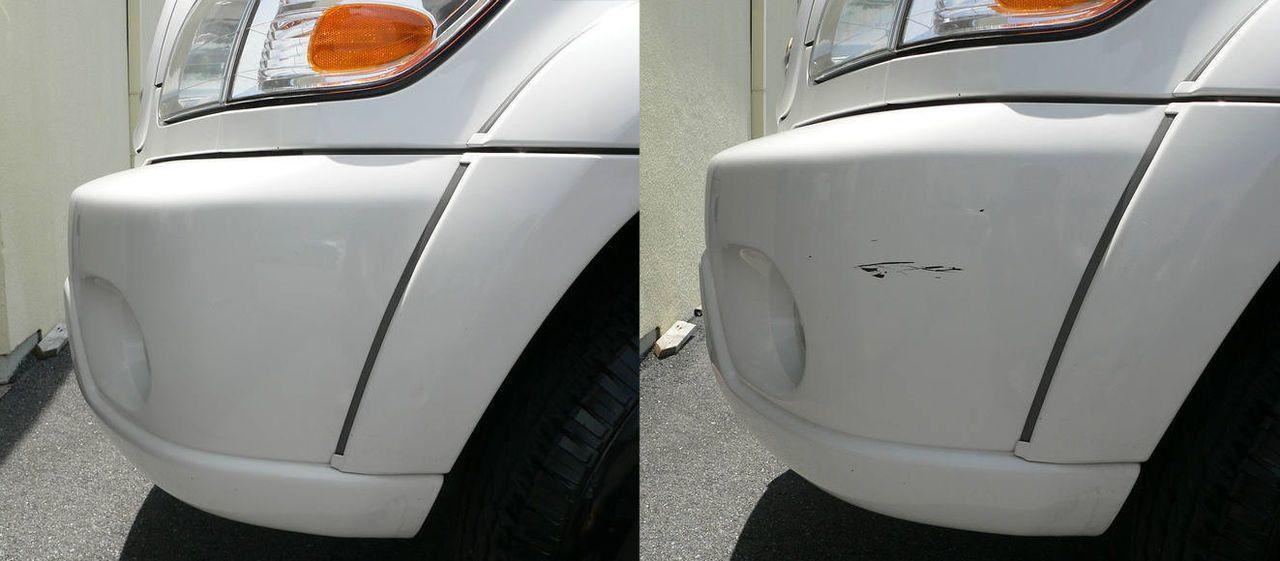 Фото автомобильной царапины